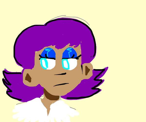 business woman with purple hair