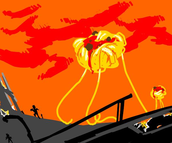 The spaghetti gods rein terror among the land