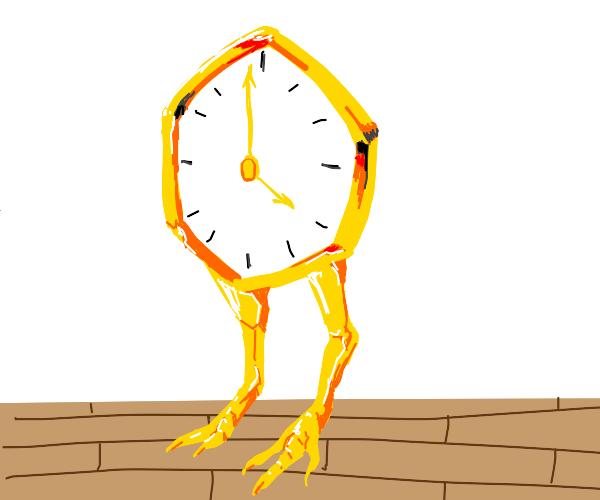 Clock with chicken legs