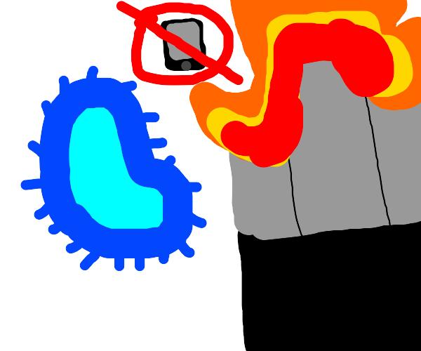 Amoeba hates phones, sets city on fire