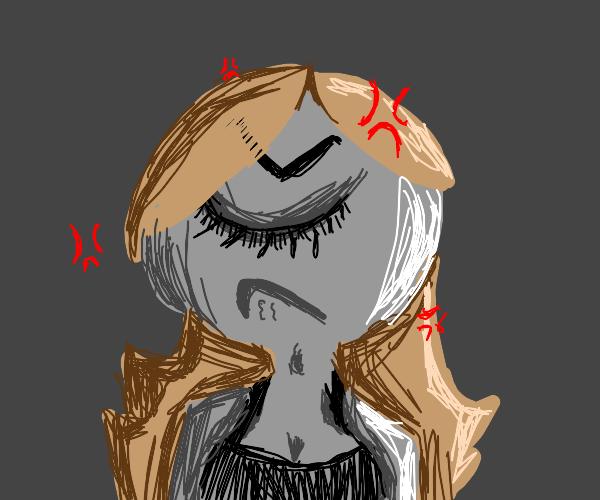 angry cyclops girl