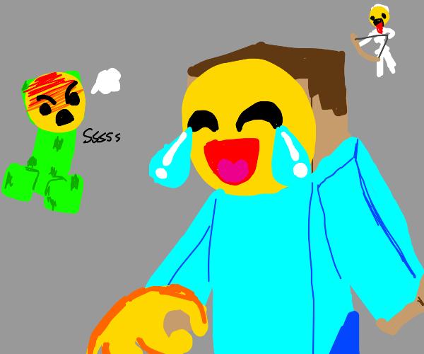 minecraft but with emojis