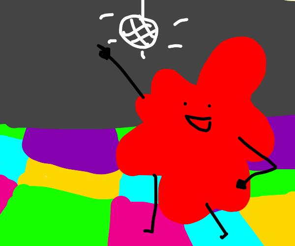 blood splatter is dancing