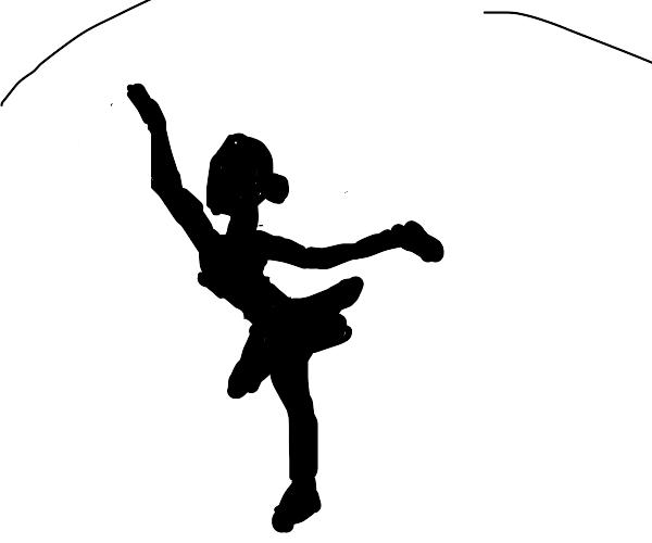 One legged ballerina