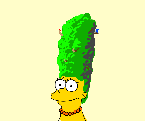 Brillaint design for Marge w/ forest for hair