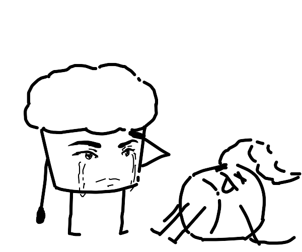 muffin salutes fallen comrade
