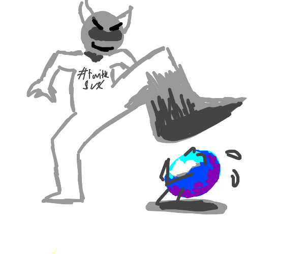 Evil entity squashes twitter