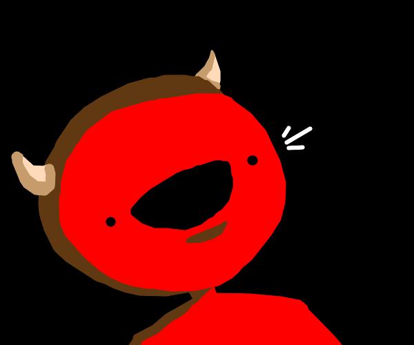 red demon smiling