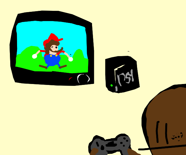 Itsa me! Super Mario on the ps4! Wahoooo!