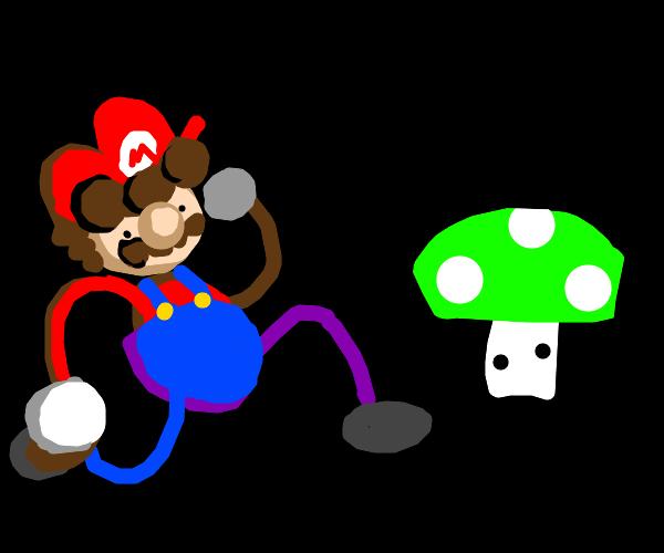 Mario runs towards extra life