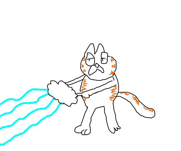 Garfield with magic ice powers