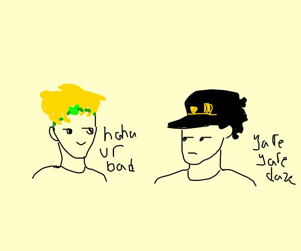 Dio insulting Jojo