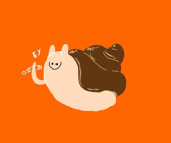 Poop snail