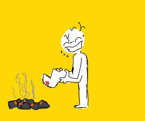 walking on hot coals burns!