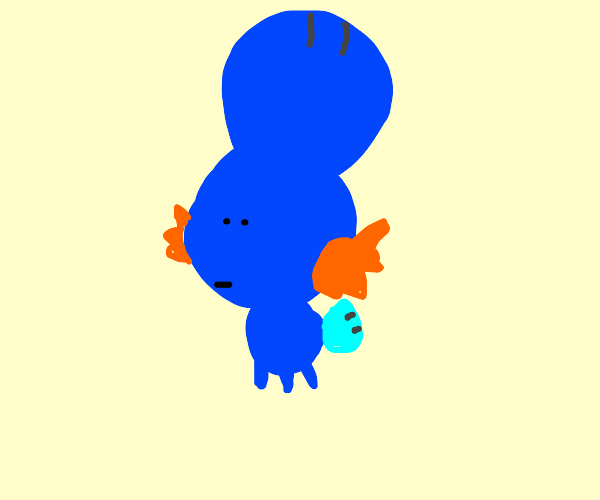 Mudkip with a huge head and tiny body