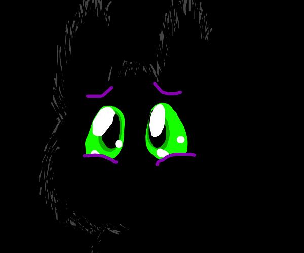 Cat is afraid of the dark