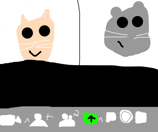 Zooming cat and mouse