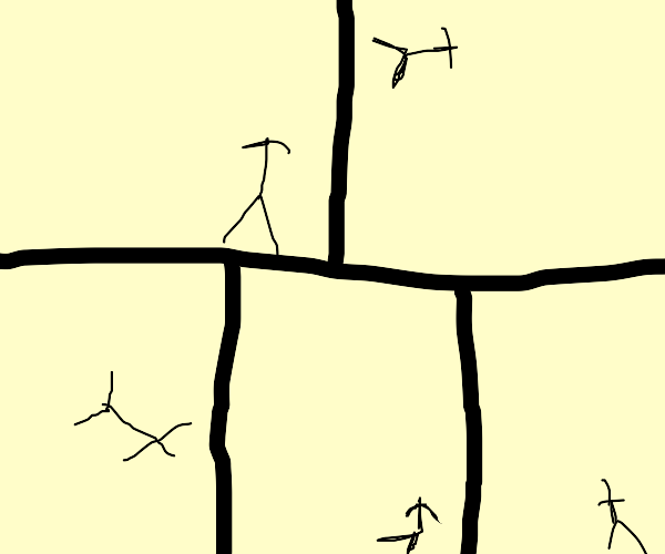 Headless stick figure frame-by-frame leap