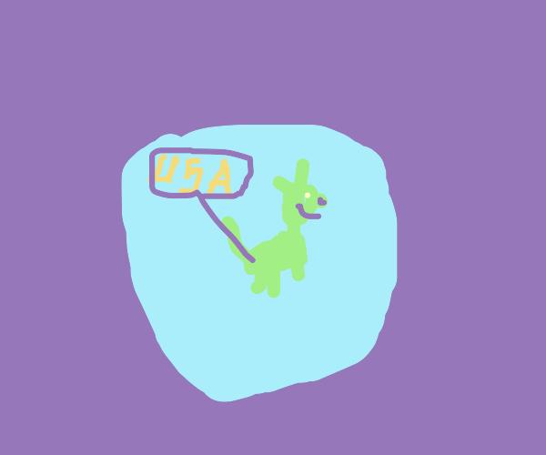 Dog shaped island found by the U.S of A