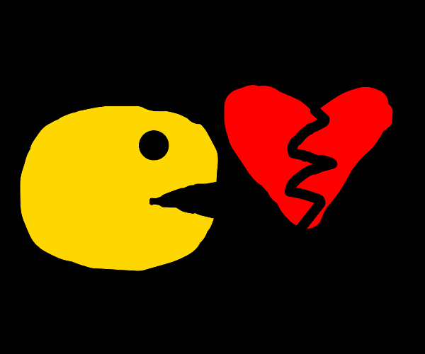 Pacman heart break (fox loves water instead)