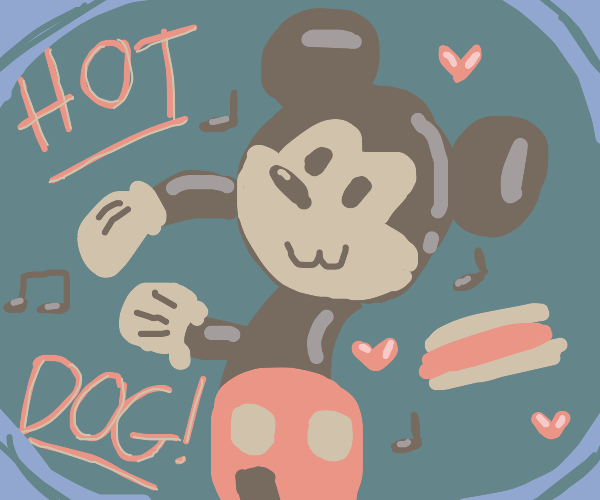 Mouse wants hot dog