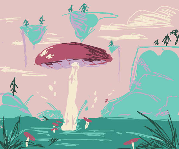 Mushroom on alien world