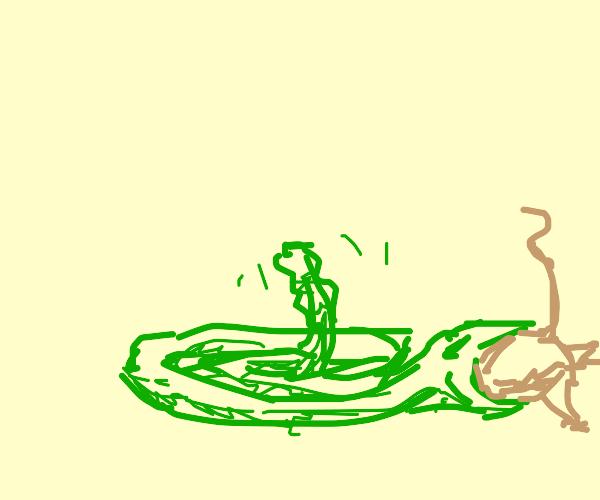 Snake eating