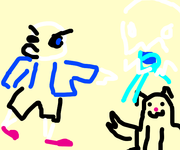 sans fights cat
