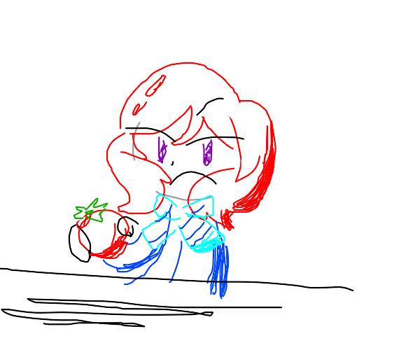 girl doesnt like tomato