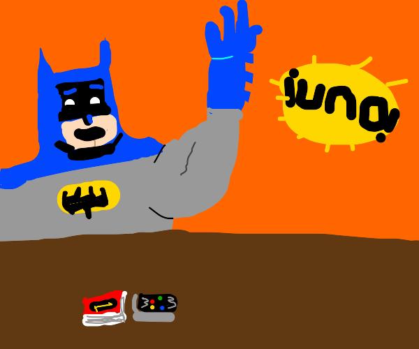 Batman winning uno