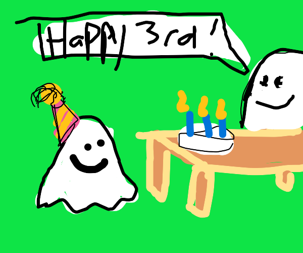 Ghost's third birthday party.