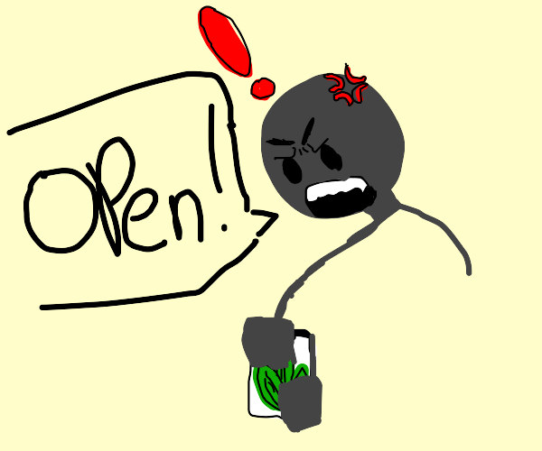 very aggressive man cannot open a jar