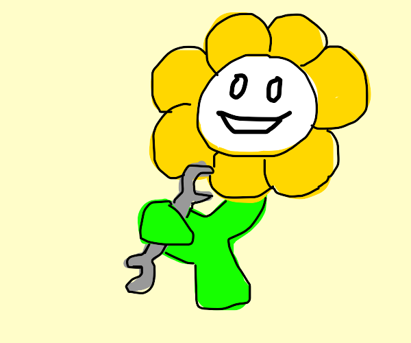 the undertale flower becomes a mechanic