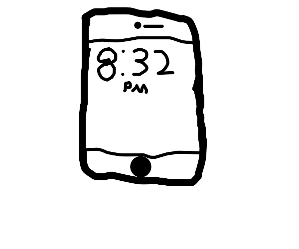 Probably apple phone while its 8:23 PM