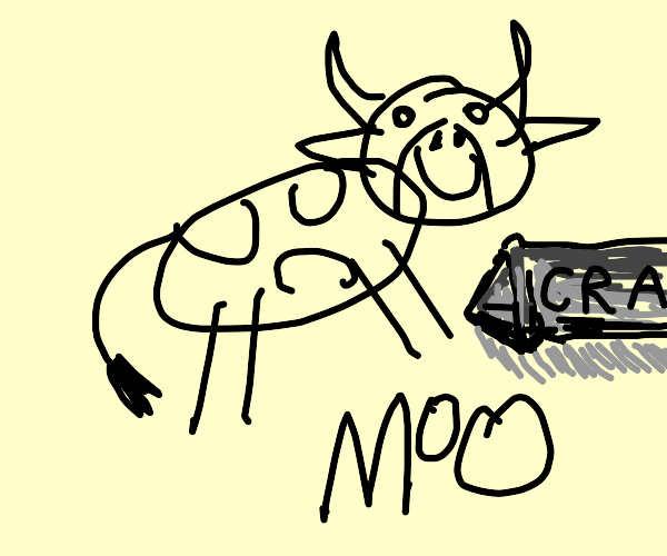 cow drawn by a child