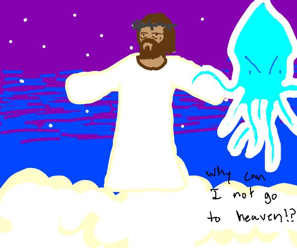 Squid Ghost Troll Jesus
