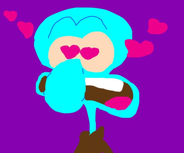 Love struck squid