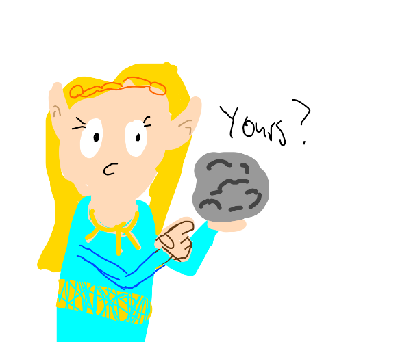 Zelda asks someone if a meteorite is his