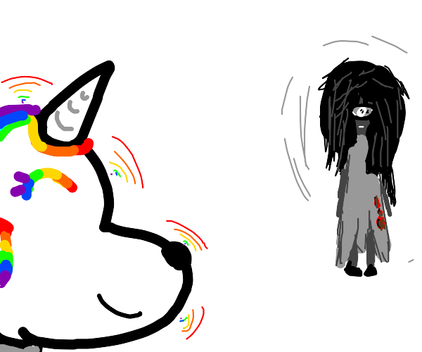 rainbow unicorn meets scary soul