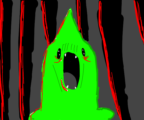 Slime monster screaming