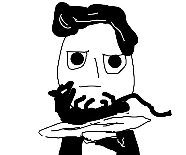 Waiter offers you a dead rat