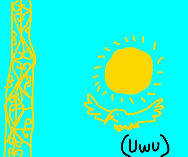 Khazakhstan Flag uwu