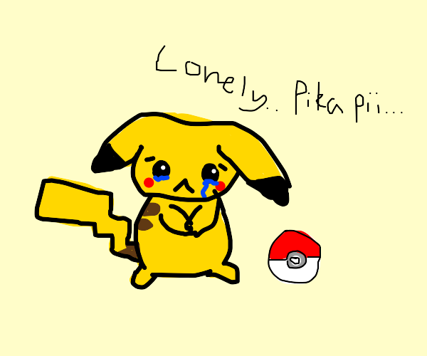 Pikachu is lonely, wants to catch sum friends