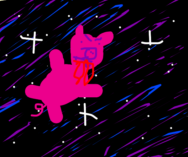 Vampire pig in space