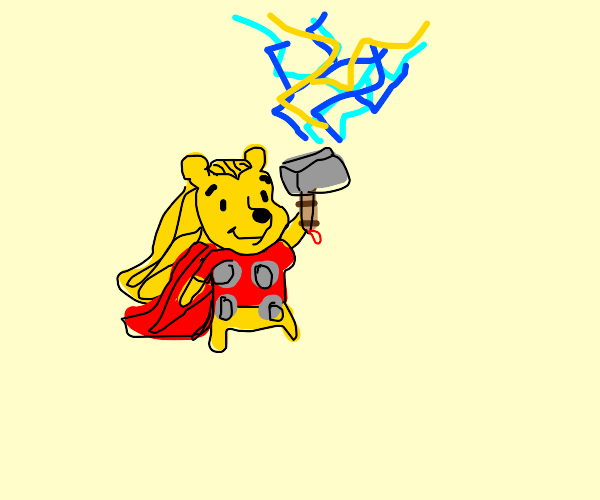 winnie the pooh becomes thor