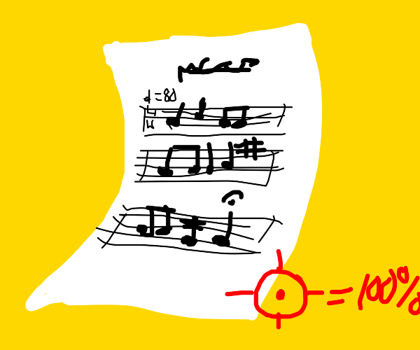 Incredibly accurate sheet music