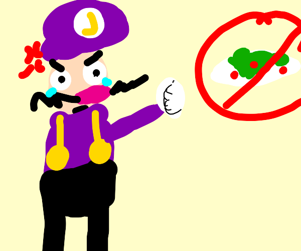 Waluigi can't touch the salad