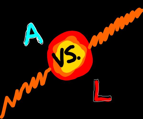 A vs L