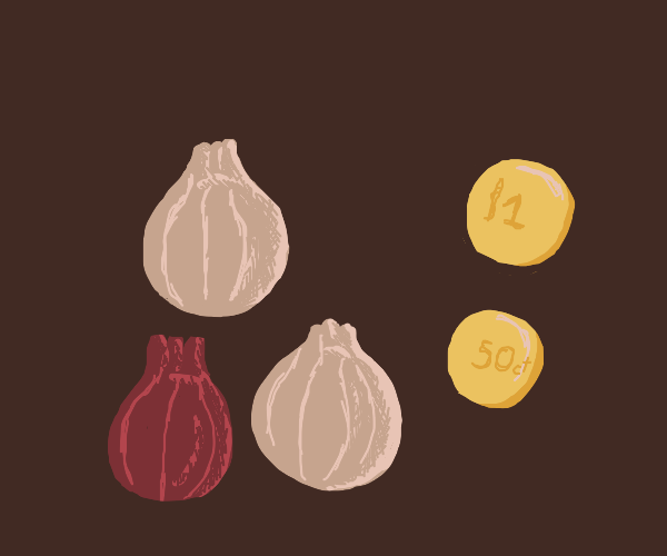 Onions and coins
