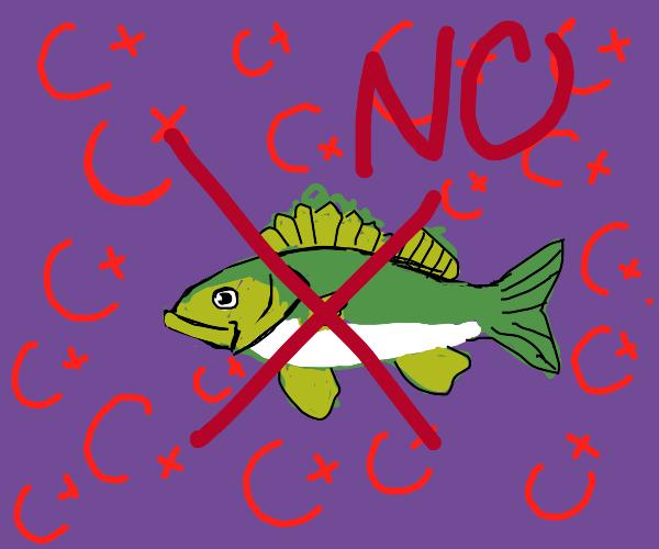 ACNH villager caught the same damn fish again